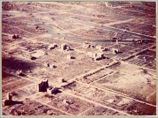 Так выглядел сметенный с лица земли город после взрыва атомной бомбы.