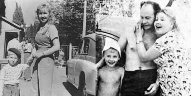 Екатерина Савинова с мужем и сыном Андреем.