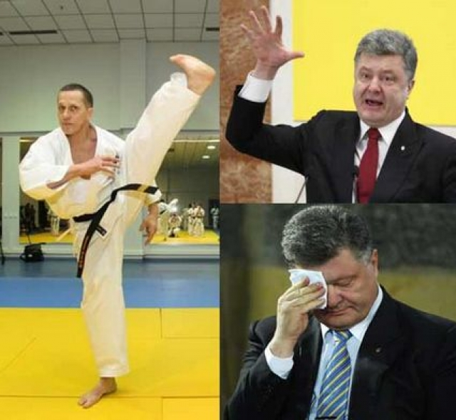 Политиков разняли, а украинскому президенту пришлось покинуть мероприятие раньше остальных, поскольку, по общему мнению пользователей, он испугался ответа Юрия Трутнева.
