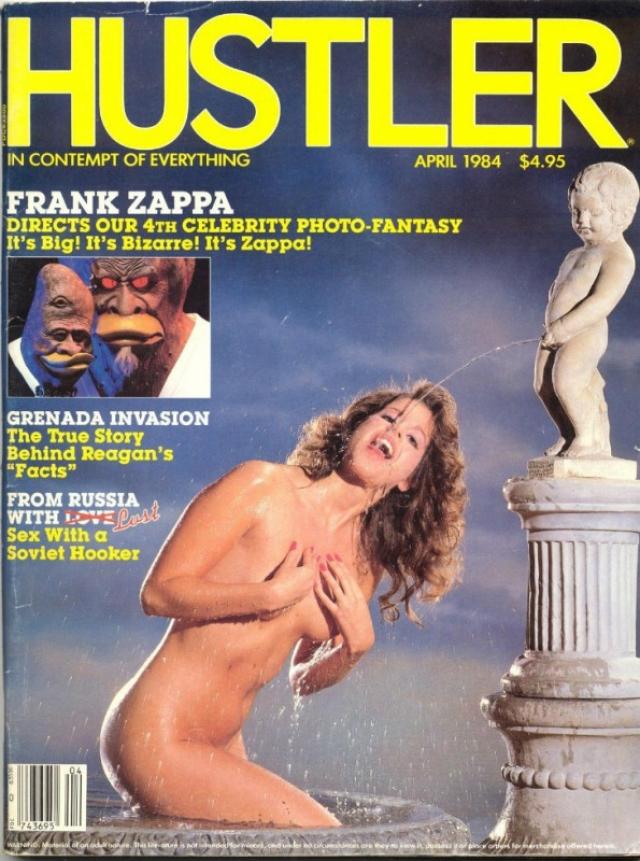 """Номер """"Хастлера"""" за апрель 1984 года с писающим мальчиком запомнился в том числе статьей про секс с советской проституткой."""
