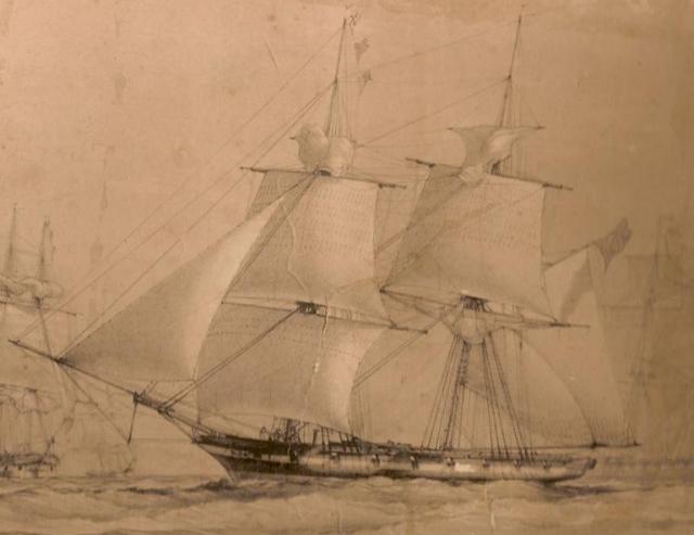 """Через год английский корабль """"Эллен Остин"""" встретил в открытом океане у Бермудских островов, шедшую под парусами, на которой не было команды. Остановить ее не удалось."""