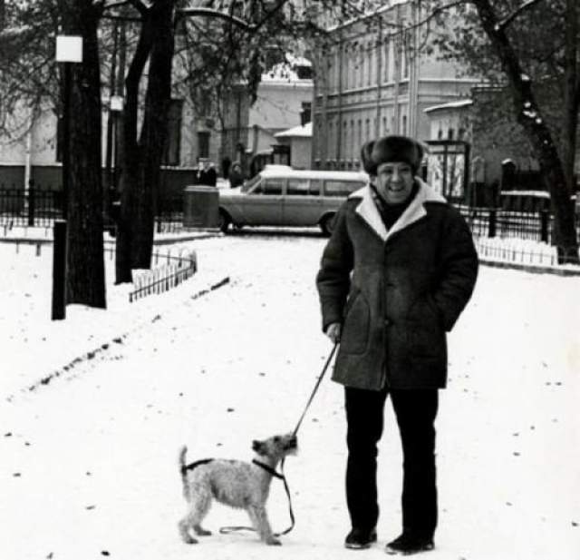 Юрий Никулин со своей собакой