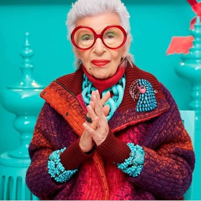 Айрис Апфель, 97 лет. Дожить до такого возраста и остаться ничем не примечательной личностью сложно, но эта старушка умела отжигать с юности.