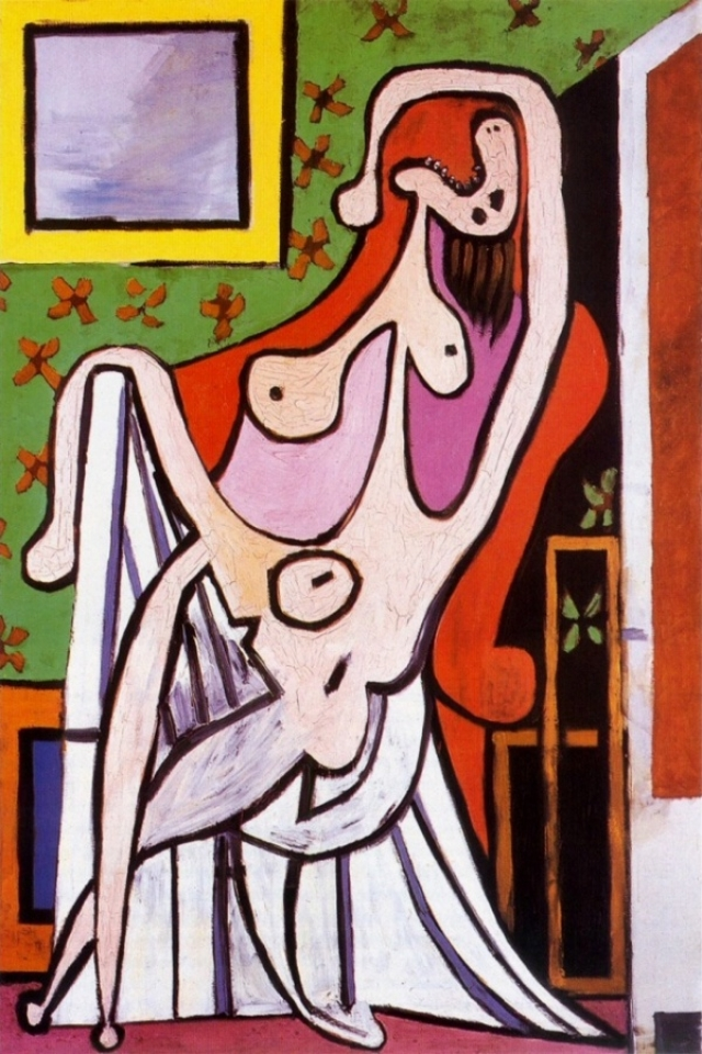 Неудивительно, что в этот период свою жену Пикассо изображал исключительно в виде злой старухи с угрожающими длинными острыми зубами.