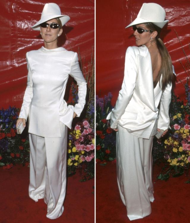 """Селин Дион. Платье? Костюм? Или?.. Певица загадала загадку присутствующим на церемонии вручения """"Оскара""""."""