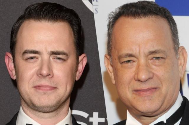 Том Хэнкс и его сын Колин.