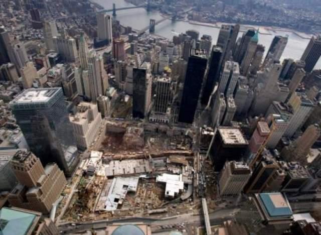 На месте теракта 11 сентября