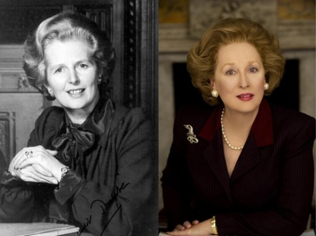 """Маргарет Тэтчер и Мерил Стрип , """"Железная леди""""."""
