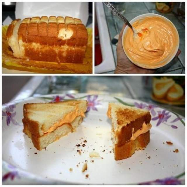 Сладкий торт, вместо сэндвича с сыром Скажите, что приготовили горячие сендвичи с сыром, дети и не догадаются, пока не попробуют, что это сладкий торт.