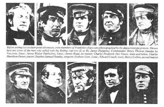 Экспедиция Джона Франклина из 134 человек в 1845 году отправилась через Северо-Западный переход из Европы в Азию, взяв с собой запасов воды и еды на пять лет.