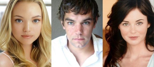 За страшными личинами скрываются не такие уж страшные актеры - Д жемма Ворд, Лаура Маргулис и Кип Уикс .