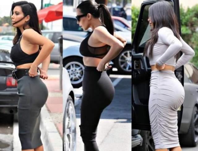 """Ким Кардашьян, 37 лет. Кажется, что Ким всегда была девушкой """"в теле"""", но на самом деле ее пышные формы — это результат изменений, последовавших за беременностью и родами."""