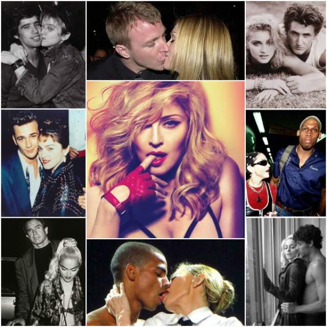 А что касается имиджа, то здесь Мадонна более разнопланова: она то и дело строила из себя дрянную девчонку, потому и по количеству ухажёров приходилось соответствовать. Говорят, в списке ее бывших даже есть пара девушек.