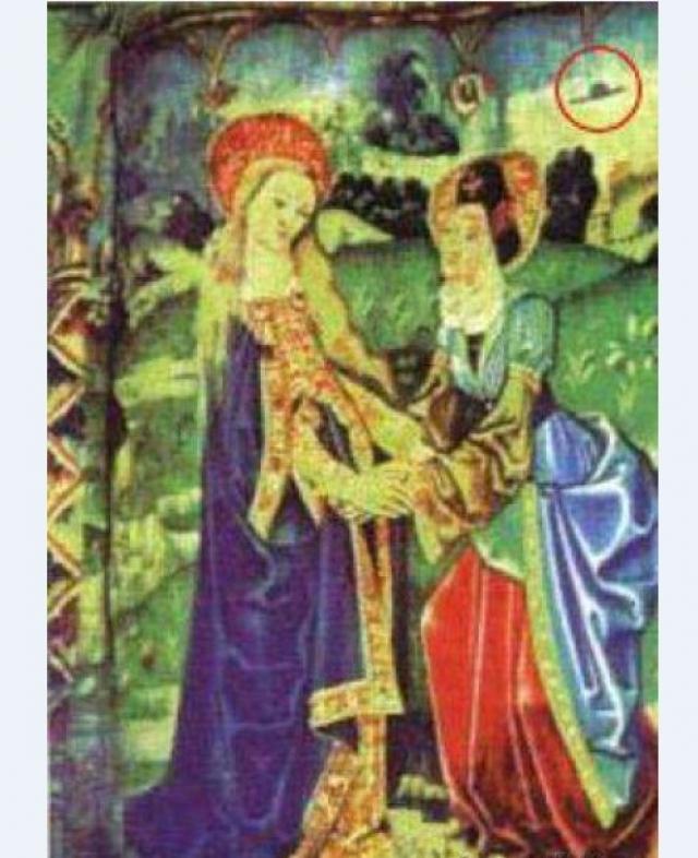 Точно такой же объект можно различить и на французском гобелене 14 века.