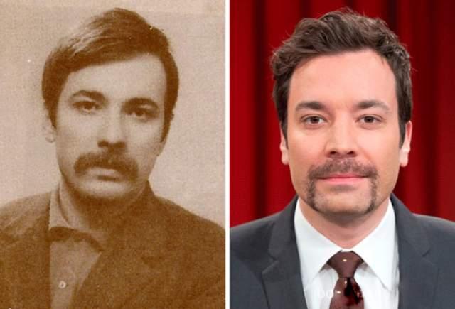 Лидер марксистско-ленинской революции Махир Чаян (1946-1972) и американский телеведущий Джимми Фэллон