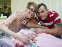 В Великобритании родилась девочка с сердцем наружу