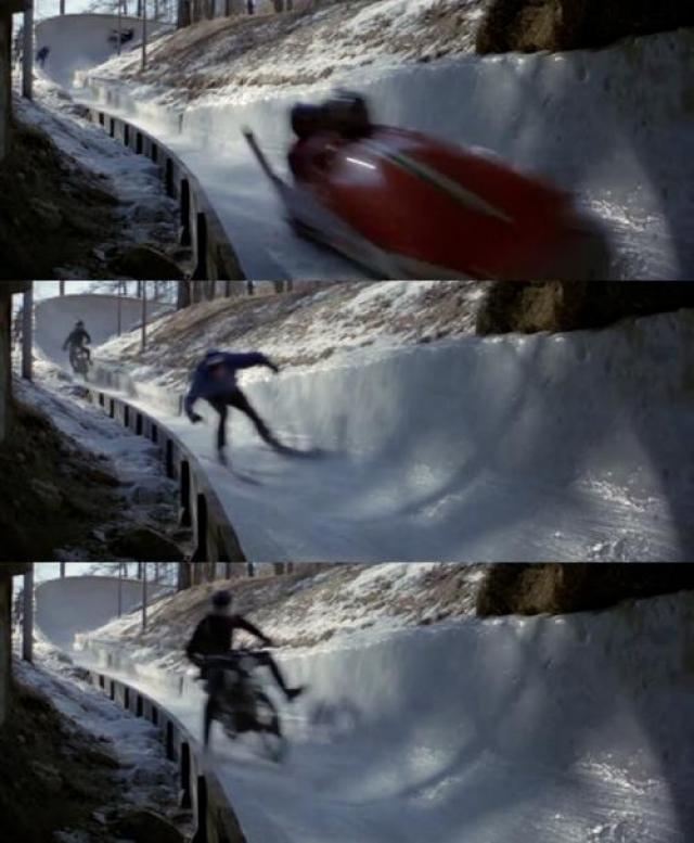 В последний день съемок, во время сцены погони на бобслее, сани внезапно перевернулись, и 23-летний Пауло Ригон попал под них, скончавшись на месте.