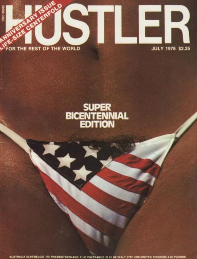 В июле 1976 года выпуск Hustler был посвящен двухсотлетию независимости США.
