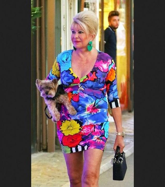 Ивана Трамп. Бывшая супруга Дональда Трампа обожает автозагар и мини-платья.