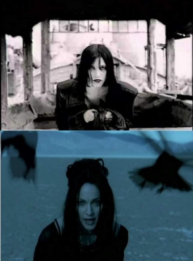 """Мадонна скопировала Линду. В конце 90-х вокруг клипа российской певицы Линды разразился настоящий скандал: идею ее клипа """"Ворона"""" якобы украла Мадонна. Иностранную знаменитость обвиняли в том, что в своем видео на песню Frozen она использовала имидж, пластику и движения Линды из клипа российской исполнительницы, вышедшего двумя годами ранее."""
