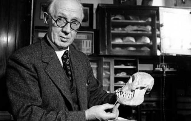 Исследования 1949 года показали, что пилтдаунский человек Чарльза Доусона не столь древняя находка, а череп и вовсе составлен из фрагментов черепов человека и орангутанга.