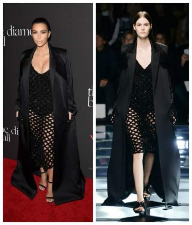 Ким Кардашьян в наряде из коллекции Prada Spring 2014