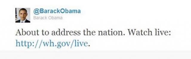 """В связи с заявлением Обамы в Твиттер в пиковый момент писалось 5106 сообщений в секунду. Бейсбольные фанаты во время прямого эфира игры между клубами """"Филадельфия Филлис"""" и """"Нью-Йорк Метс"""" начали кричать """"U-S-A!"""" в ответ на новость"""