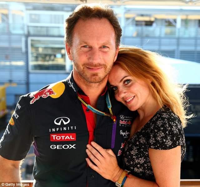 """Кристиан Хорнер. В 2014 году топ-менеджер Формулы-1 начал роман с экс-""""перчинкой"""" Джерри Холлиуэлл, хоть на тот момент и состоял в гражданском браке с Беверли Аллен, которая незадолго до этого родила ему долгожданную дочь Оливию."""