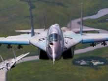 Вертикальный взлет нового истребителя МиГ-35 на форсаже попал на видео