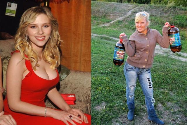 А это еще одна похожая на Скарлетт девушка из России.