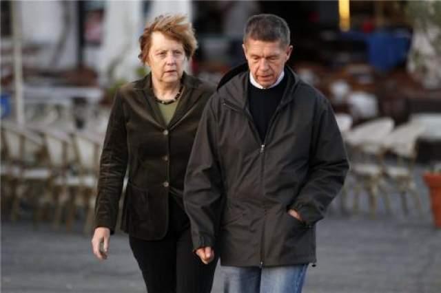 Ангела Меркель с супругом в 2014 году.