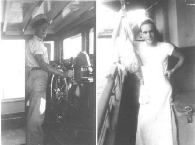 """Корабль """"MV Joyita"""", судя по данным радаров, попал в южной части Тихо океана. В Новую Зеландию он вез четыре тонны груза (медикаменты, продукты питания, пустые бочки из-под растительного масла и прочее), который также бесследно исчез вместе с пассажирами и экипажем. Радио на """"MV Joyita"""" было настроено на международный канал для передачи сигналов бедствия. На борту судна спасатели не нашли ни одной шлюпки. Их внимание привлекли окровавленные бинты, валявшиеся повсюду. На фото: члены экипажа """"MV Joyita"""""""