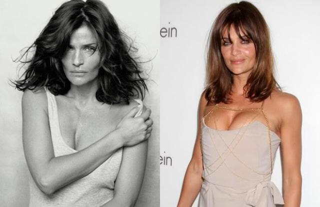 Хелена Кристинсен. Супер-модель 90-х и сейчас не стесняется фотосессий без макияжа.