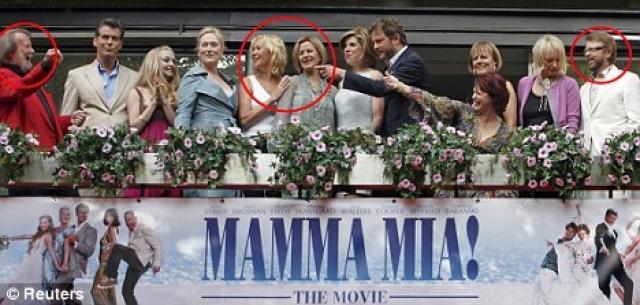 Все четверо участников вновь собрались вместе, спустя 20 лет, на премьере фильма Mamma Mia! в Стокгольме в 2008 году.