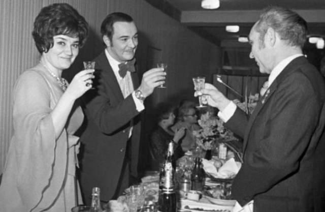 Муслим Магомаев и Тамара Синявская в 1974 году.