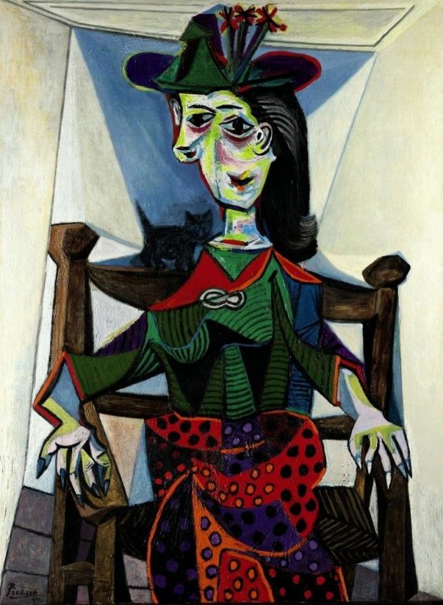 """$95 200 000. """"Дора Маар с кошкой"""" , Пабло Пикассо, 1941 год."""