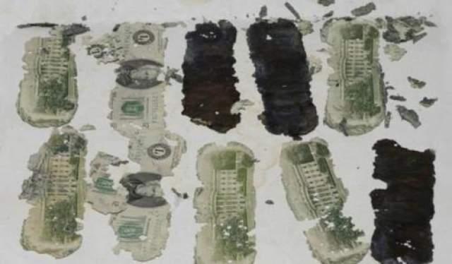 Но, к сожалению, предмет оказался непригодным для экспертизы. Похоже, дело сдвинулось с мертвой точки, хоть и не на много. На фото: номера банкнот, найденных на берегу реки Колумбия в феврале 1980 года, совпали с теми, которые Купер получил в качестве выкупа.