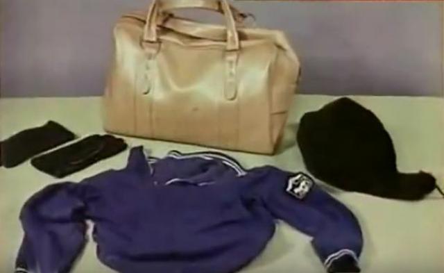 В результате следственного осмотра были получены ценные улики: синяя спортивная куртка с олимпийской нашивкой из Еревана и шапка-ушанка. На шапке сыщики обнаружили несколько чёрных волос.