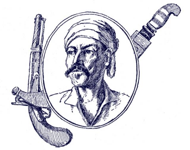 Жан Лафит (?-1826). С молчаливого согласия правительства молодого американского государства он преспокойно грабил корабли Англии и Испании в Мексиканском заливе.