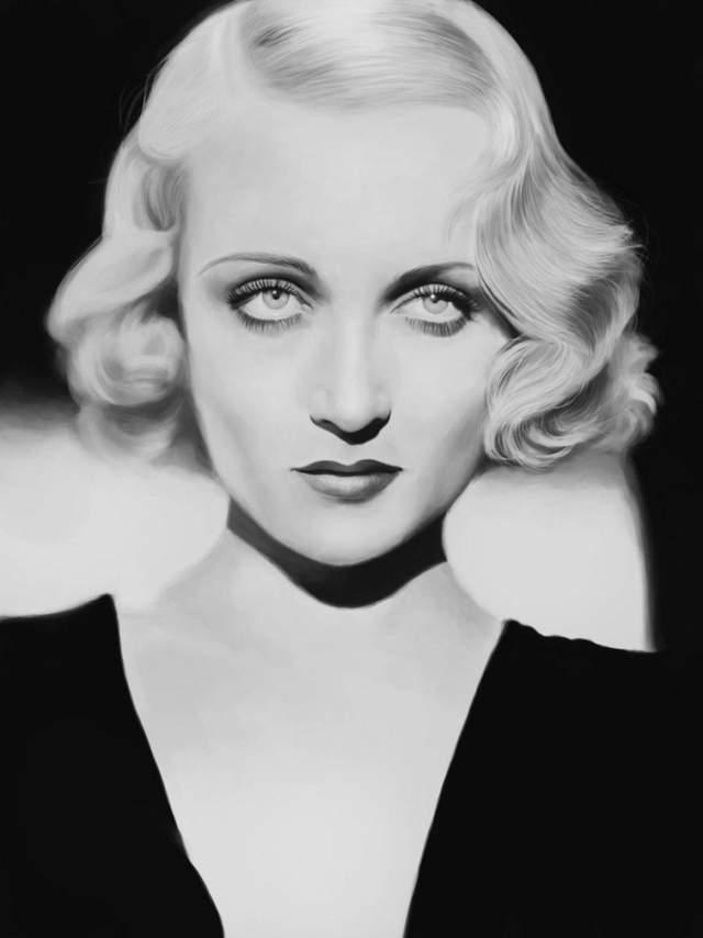 """Кэрол Ломбард, 1908-1942. Актриса известна в основном комедийными ролями в классических голливудских фильмах 1930-х гг. Американский институт киноискусства включил её в список """"100 величайших звёзд кино"""" под номером 23. Она погибла в результате авиакатастрофы: самолет врезался в гору."""