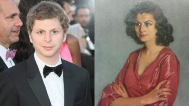 Канадский актёр Майкл Сера и женщина картины испанского художника