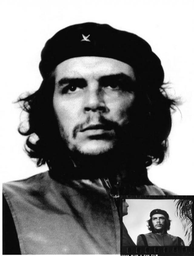 Снимок, сделанный репортером Альберто Корда на митинге в 1960-м году, на котором между пальмой и чьим-то носом был запечатлен Че Гевара , пожалуй, может считаться одним из самых растиражированных за всю историю фотографии.