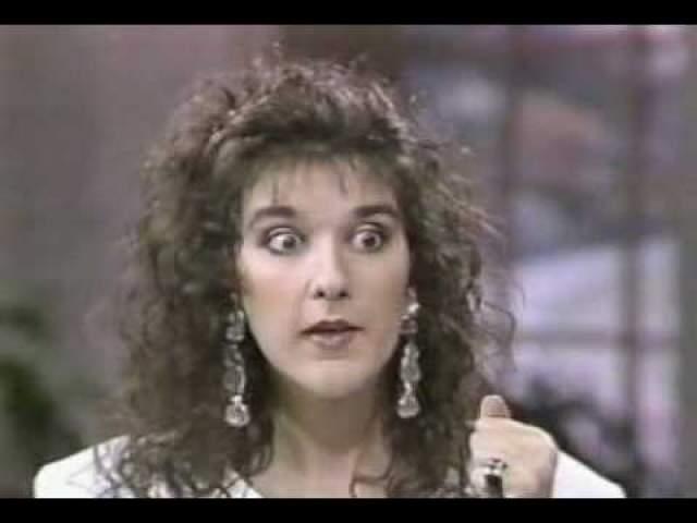 Уже довольно известная к 1990 году певица Селин Дион .