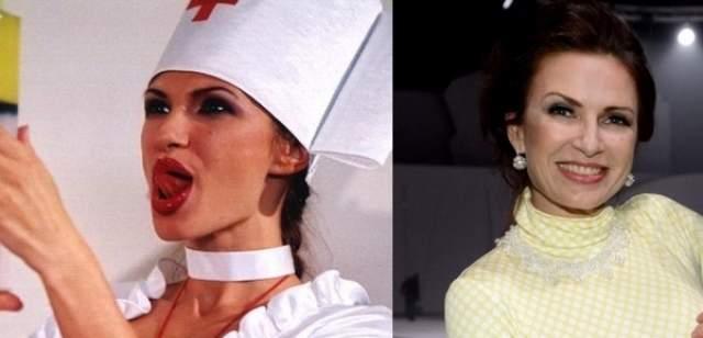 """Эвелина Бледанс Впервые, помниться, телезрители увидели актрису именно в """"Масках-шоу"""" в роли сексапильной медсестры. Кстати, Эвелина была первой женой Юрия Стыцковского. Она вышла за него замуж в 1993 году, до этого прожив с ним семь лет не расписываясь. Однако в законном браке они прожили всего около двух месяцев."""