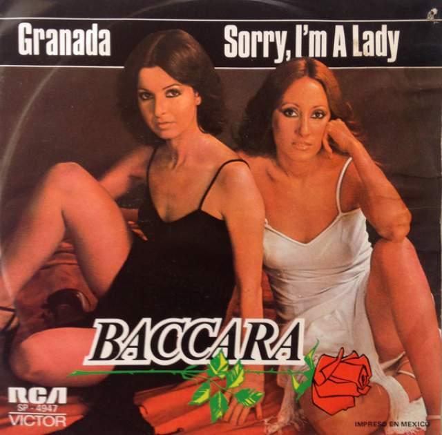 """Baccara. Женская поп-группа в составе Майте Матеос и Марии Мендиолы из Испании прославилась песнями """"Cara Mia"""", """"Yes Sir, I Can Boogie"""", а главная - """"Sorry I'm A Lady""""."""