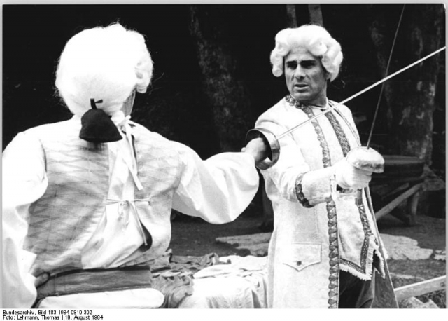 Кроме индейцев он сыграл Труффальдино, любовника Марии Тюдор, Спартака, Наполеона.