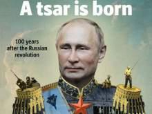 Журнал Time поместил на обложку Путина в императорской короне
