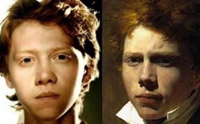 """Звезда """"Гарри Поттера"""" Руперт Гринт и английский фотограф и художник Дэвид Уилки."""