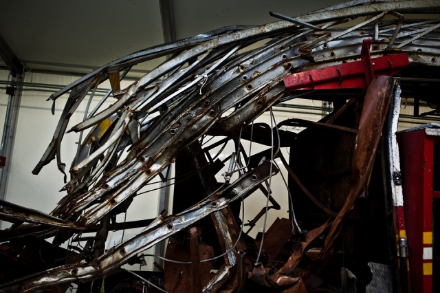 В Вашингтоне представлены вещи, которые уцелели после теракта во Всемирном торговом центре 11 сентября в Нью-Йорке.