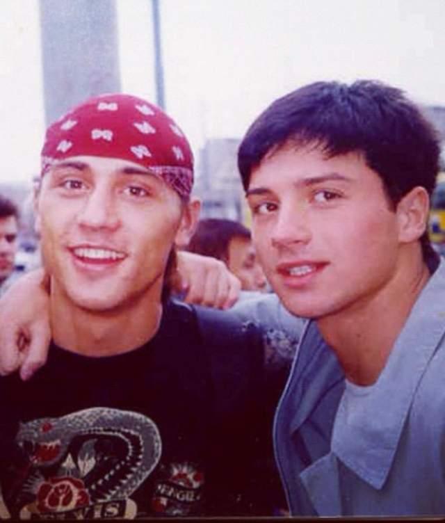 А это молодые Дима Билан и Сергей Лазарев.